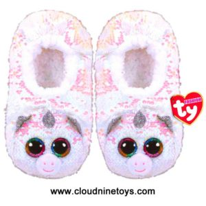 TY Fashion Sequin Slipper Socks Unicorn Diamond