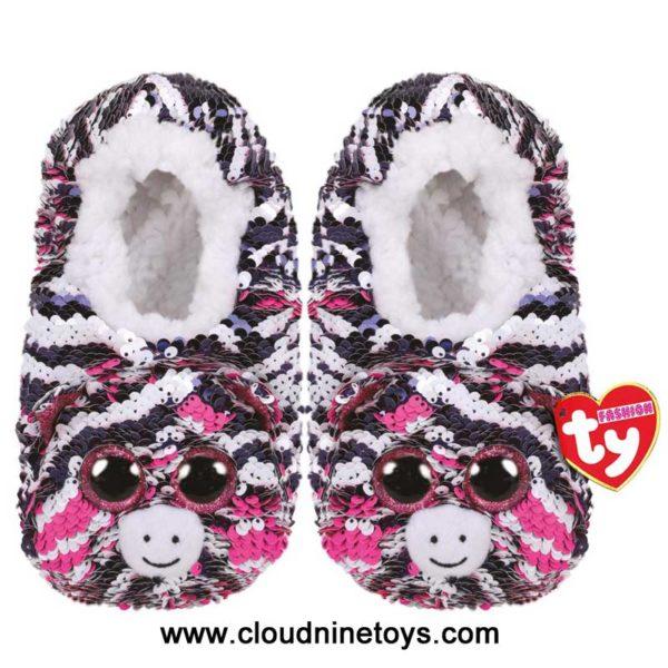 ty fashion sequin slipper socks zoey tiger