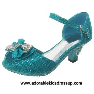 Heels for kids – turquoise