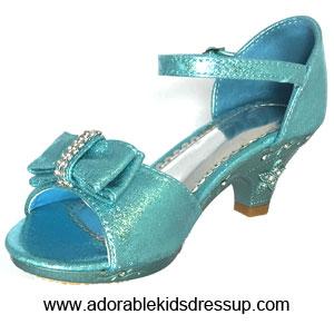 little girls high heel shoes blue