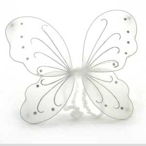 Pretend Butterfly Wings – White