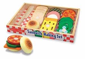Wooden Sandwich Making Set